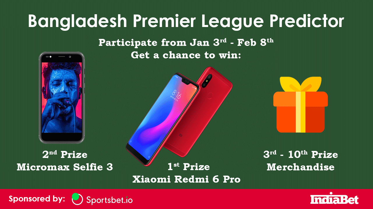 BPL 2019 Prediction Competition - Win Prizes! - India Bet